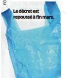 Interdiction des sacs plastique.