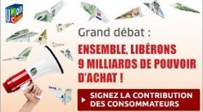 La contribution des consommateurs au Grand débat national.