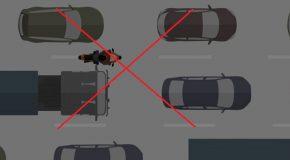 Interdiction de circuler entre les files de voitures à partir du 1er février 2021.